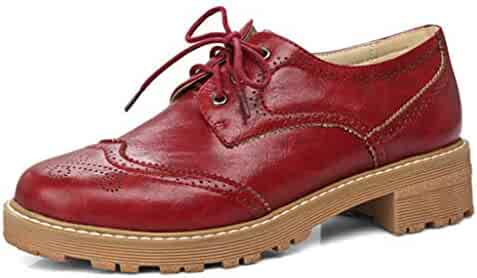 c72e650833b Women¡¯s Flat Oxford Shoes Lace-up Round Toe Slip-On Oxford