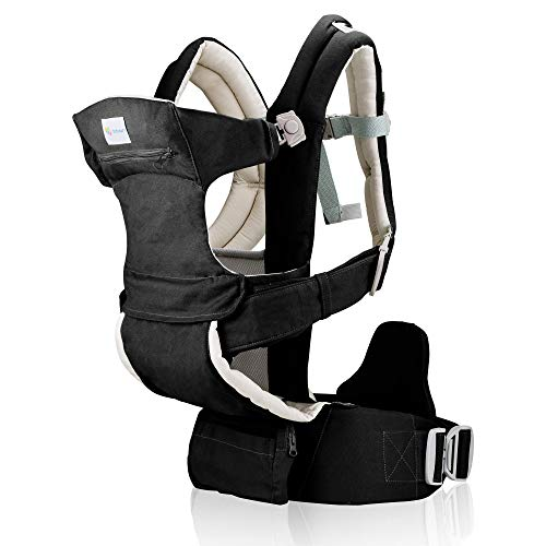 Baby Carrier for Men & Women – All Carry Positions Baby Carrier – Infant Carrier – Backpack Baby Carrier -Hiking Baby Carrier – Cotton (Black Camel)