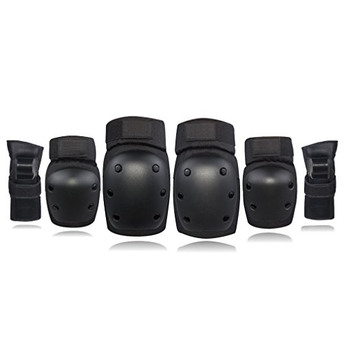 Knee Elbow Pads Wrist Guards Protective Safety Gear Set for Kids Children Adult Skateboarding Inline Skating