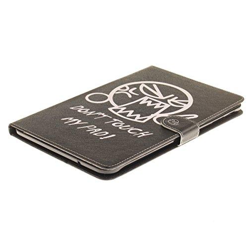 Ukayfe Flip funda de cuero PU para Samsung Galaxy TAB E 9.6 T560, Leather Wallet Case Cover Skin Shell Carcasa Funda para Samsung Galaxy TAB E 9.6 T560 con Pintado Patrón Diseño, Cubierta de la caja F ¡no me toques