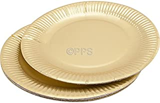 30 GOLD ROUND PAPER PLATES - 23cm/9  inch quality durable plates ideal for  sc 1 st  Amazon UK & Pack of 16 x Gold Round Paper Plates (9