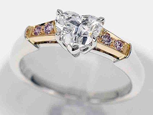 (ハリーウィンストン) HARRY WINSTON ハートシェイプ トリストリング ダイヤ(D0.75ct F-VS1) 、4Pピンクダイヤ、PT950 プラチナ、750 K18 PG ピンクゴールド 約10号 B01N6U5DAM