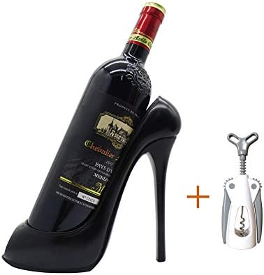 Fashion Shoes Model Wine Rack Decoration Desktop Bottle Rack Family Kitchen Table Winery Counter Resin Crafts Ornaments Black