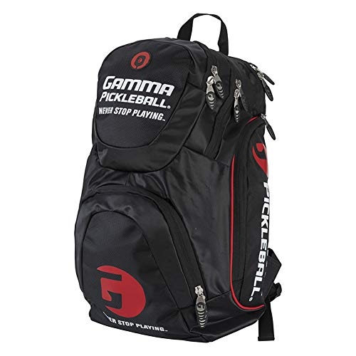 Gamma 2019 Pickleball Backpack (Black/Red)