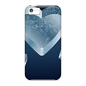 Ice Heart Case Compatible With Iphone 5c/ Hot Protection Case