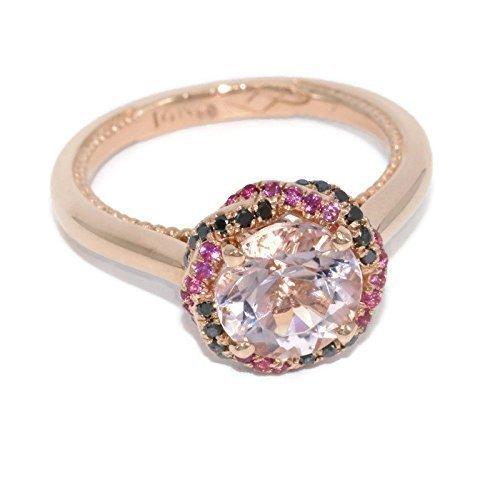 Amazon Com 14k Rose Gold Natural Morganite Engagement Ring Braided