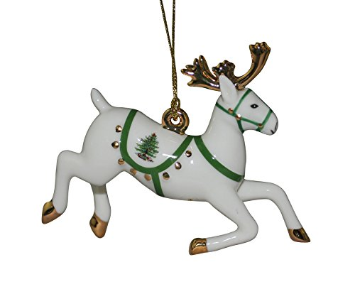 Bone Christmas Tree Ornament (Spode Christmas Tree Ornament, Reindeer)