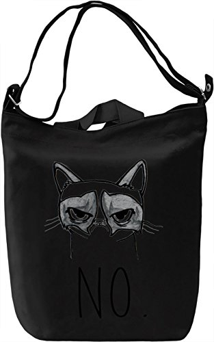 Grumpy No Borsa Giornaliera Canvas Canvas Day Bag| 100% Premium Cotton Canvas| DTG Printing|