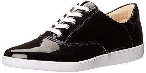 Nine West Women's Limbo Synthetic Fashion Sneaker, Black, 6 M US