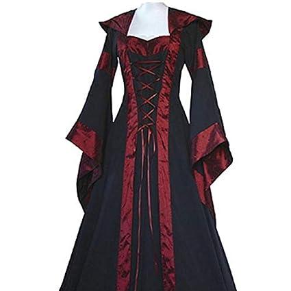 Shi18sport Vestido Victoriano De Halloween Disfraces De Cosplay Ropa De Bruja De Vampiro Aterrador Mujeres Traje