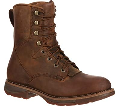 Amazon.com | Durango Men's Waterproof Western Lacer Leather Boots ...