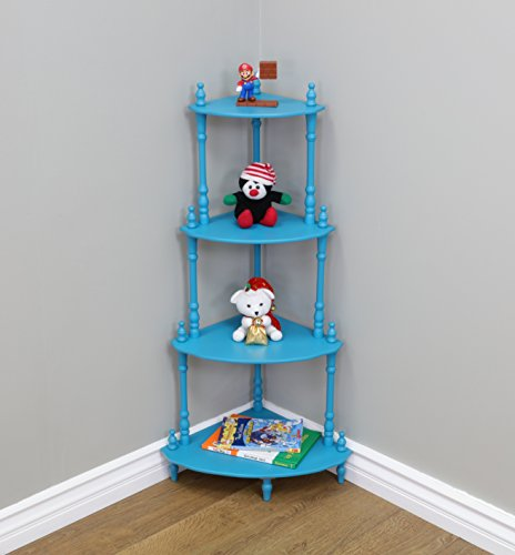 Frenchi Home Furnishing Kid's 4-Tier Shelves, Blue