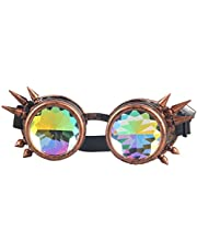 OMG_Shop Kaleidoscope Steampunk Rave Goggles Diffraction Rainbow Crystal Lens