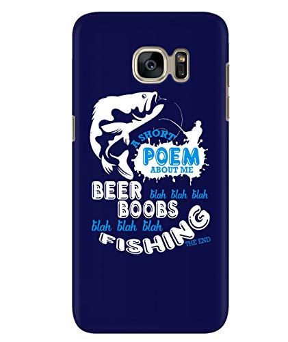 Design for Samsung Galaxy S7 Case, A Short Poem Samsung Case, Beer Blah Blah Blah Galaxy S7 Case (Samsung Galaxy S7 Case - Navy) -