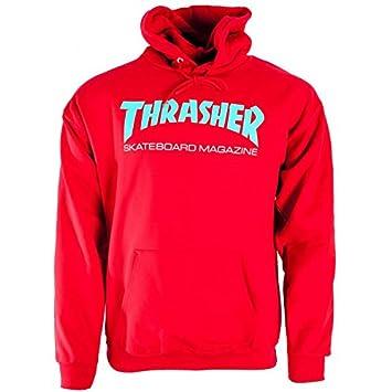 db4808b354b8 Thrasher Skateboard Skate Mag Red/Teal Hoody Hoodie: Amazon.co.uk: Sports &  Outdoors