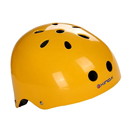 MagiDeal Outdoor Sports Safety Helmet for Rock Climbing Caving Rappelling Head Guard Cycling Head Protective Gear - Light Yellow, L