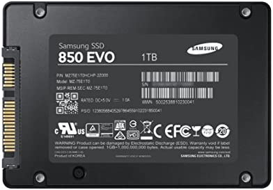 Samsung 850 EVO - Disco duro sólido interno (1 TB, Serial ATA III ...