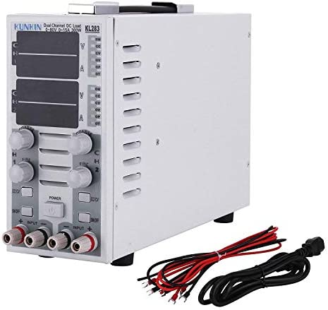 Happybuy DC Electronic Load Dual Channel Overcurrent Protection DC Load Controller KL283 DC Load Tester 300W 80V 30A
