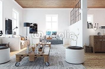 Poster Bild 90 X 60 Cm Scandinavian Style Living Room Wohnzimmer
