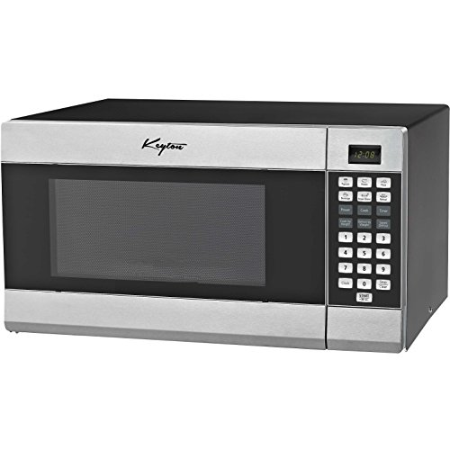 Stainless Steel Microwave Oven - 6 Instant Cooking Settings & 10 Power Levels With A Digital...