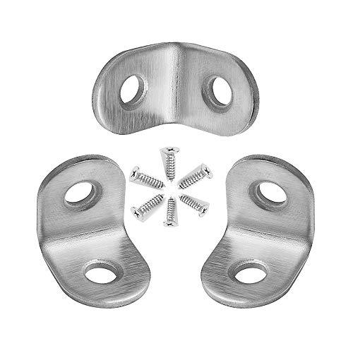 - 20 Packs L Bracket, 20×20mm L Corner Brace, Stainless Steel Right Angle Bracket Fastener with Screws