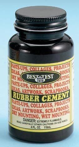 Alvin Kids Children Arts Crafts School Activity Rubber Cement 4oz by BEST-TEST