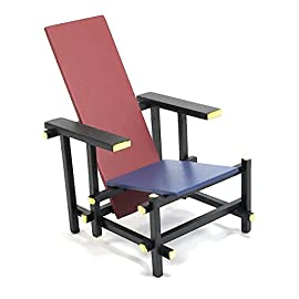 Mid-Century-Modern-Design-Miniature-112-Red-and-Blue-Chair