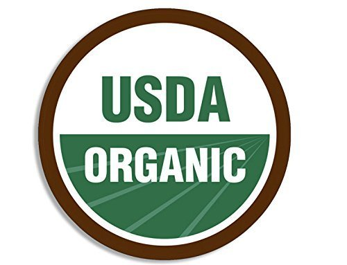 GHaynes Distributing ROUND USDA Organic Logo Sticker Decal (go green symbol decal) Size: 4 x 4 inch