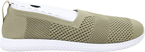 Personnes Chaussures Spannos Slip On Geo Vert / Yeti Blanc Hommes 12
