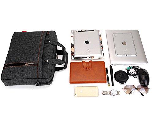 Multifuncional Portátil Hombro Bolsa Maletín Portátil de Ordenador Portátil Netbook / Chromebook / Macbook Negro