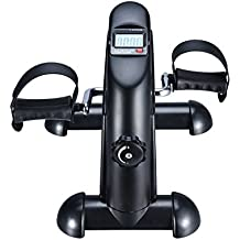 EXEFIT Mini Exercise Bike Desk Pedal Bicycle for Leg and Arm Cycling Exerciser With LCD Monitor and Flywheel