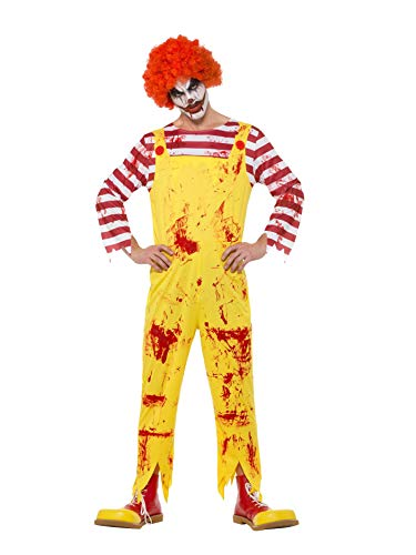 Smiffy's Mens Ronald McDonald Kreepy Killer Clown Halloween Fancy Dress Costume -