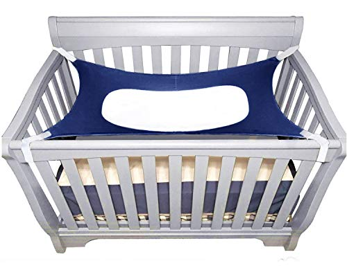 Itomoro Baby Hammock Crib Wombs for Bassinet Infant Newborn,Enhanced Material,Double-Layer Breathable Supportive Mesh Metal Buckle Hammocks Bed Blue
