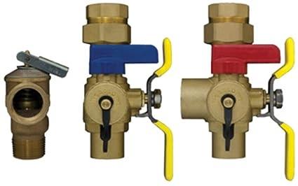 Webstone 54443 WPR aislador E2 plomo calentador calentador de agua válvula de servicio Kit, 3