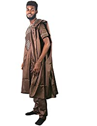ddab5a59b9 African Men Clothing Dashiki Top Shirts and Pants Bazin Riche West African  Heritage Cultural Outfits 3