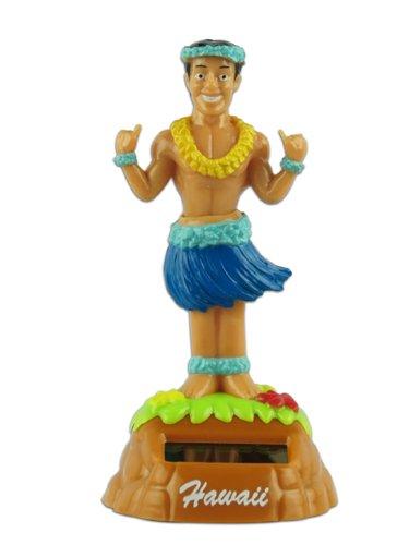 KC Hawaii Shaka Hula Man Solar Dashboard Doll
