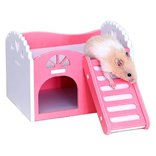 Alfie Pet by Petoga Couture - Paul Hideout Hut for Small Animals like Dwarf Hamster and Mouse - Color: Pink, Size: Small