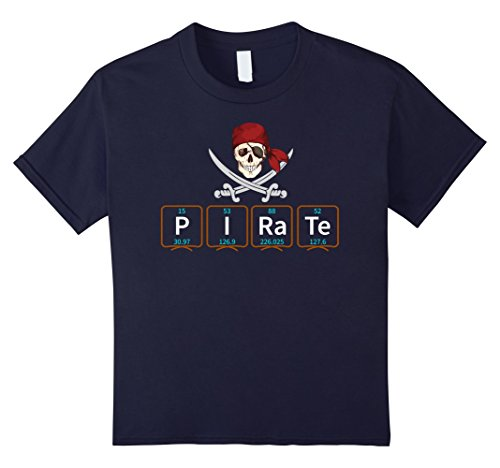 Kids Pirate Funny Chemistry Periodic Table Elements T-Shirt 8 - Eight Element