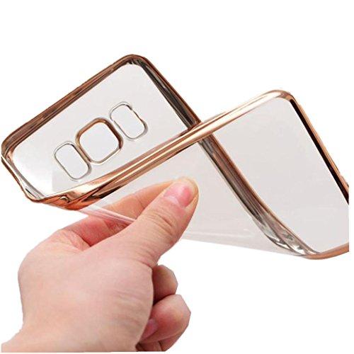 For Samsung Galaxy S8/S8Plus Case,Elevin(TM)2017 New Fashion Slim Shock Clear TPU Plating Bumper Case Cover for Samsung Galaxy S8 5.8inch/S8 Plus 6.2inch