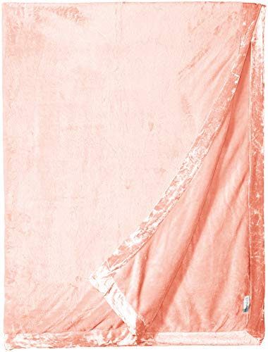 PJ Salvage Women's Luxe Plush Blanket, Blush, 1SZ