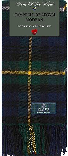 Campbell of Argyll Modern Tartan Clan Scarf 100% Soft - Clan Tartan Modern