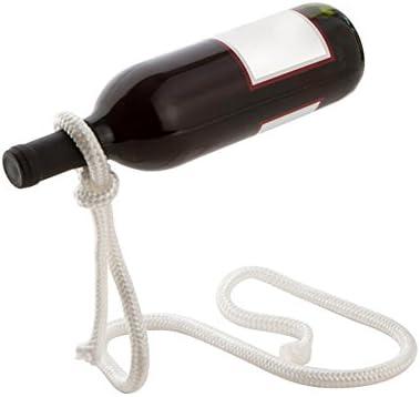 Huifen Magic Rope Wine Bottle Holder Rack Floating Illusion Rack Stand Balances Wine
