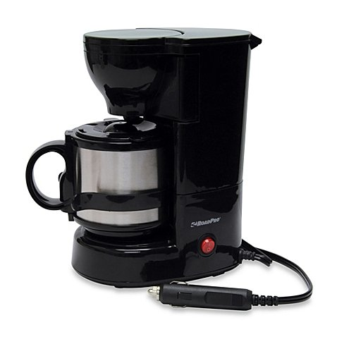 Road Pro 12-Volt Quick Cup Coffee Maker w/ 16oz Metal Cafe by RoadPro