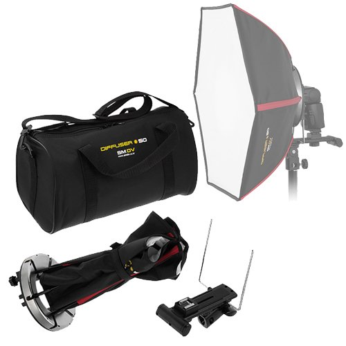 SMDV Diffuser-50 -- Professional 20x20'' Rigid Softbox for Canon Flash by SMDV