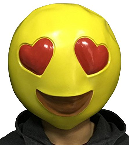Emoji Smiley Heart Eyes Latex Mask