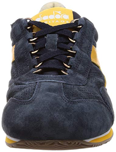 Diadora Heritage, Uomo, Equipe S SW 18, Suede/Pelle, Sneakers, Blu, 43 EU