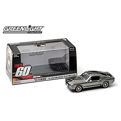 GreenLight Collectibles Gone in Sixty Seconds 1967 Ford Mustang Eleanor 1/43 Scale Diecast Model Car Gray: Toys & Games