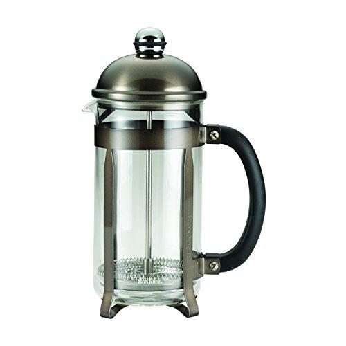 BonJour 8-Cup/33.8-Oz German Borosilicate Glass French Press, 8 Cup, Truffle
