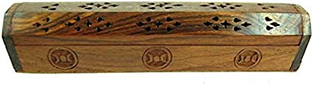 Caja para incienso madera luna: Amazon.es: Hogar