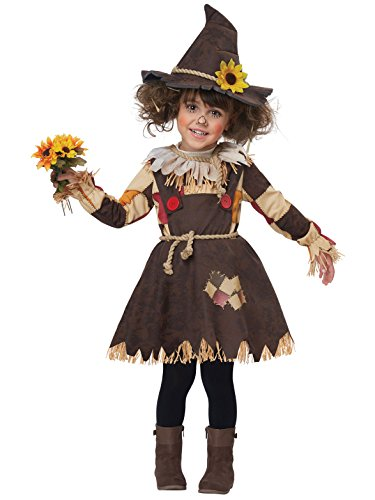 (California Costumes Pumpkin Patch Scarecrow Toddler Costume, Brown, TD)